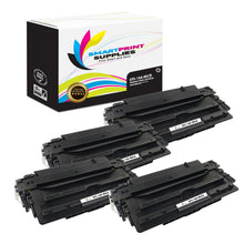 4 Pack HP 16A Q7516A Replacement Black MICR Toner Cartridge by Smart Print Supplies