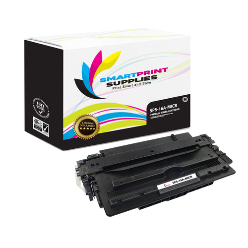 HP 16A Q7516A Replacement Black MICR Toner Cartridge by Smart Print Supplies