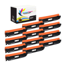 12 Pack HP 17A CF217A Replacement Black Toner Cartridge by Smart Print Supplies