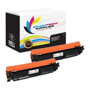 2 Pack HP 17A Black Toner Cartridge Replacement By Smart Print Supplies