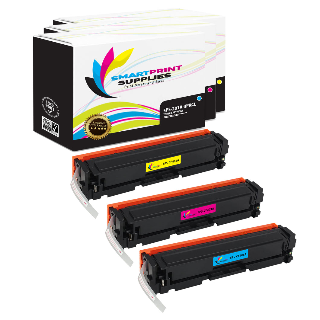 Smart Print Supplies 201A Replacement Colour Toner Cartridge Three Pack