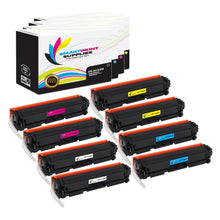 8 Pack HP 201A 4 Colors Toner Cartridge Replacement By Smart Print Supplies