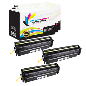 3 Pack HP 201X Premium Replacement (CMY) High Yield Toner Cartridge by Smart Print Supplies