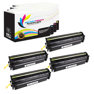 4 Pack HP 201X Premium Replacement (CMYK) High Yield Toner Cartridge by Smart Print Supplies