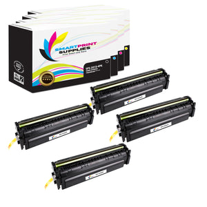 4 Pack HP 201X Replacement (CMYK) High Yield Toner Cartridge by Smart Print Supplies