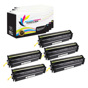 5 Pack HP 201X Premium Replacement (CMYK) High Yield Toner Cartridge by Smart Print Supplies