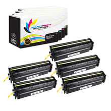 5 Pack HP 201X 4 Colors High Yield Toner Cartridge Replacement By Smart Print Supplies