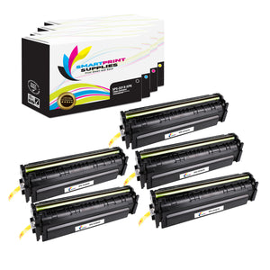 HP 201X Replacement 4 Colors Toner Cartridge by Smart Print Supplies /2,800 per black cartridge, and 2,300 per color cartridge Pages