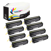 8 Pack HP 201X 4 Colors High Yield Toner Cartridge Replacement By Smart Print Supplies