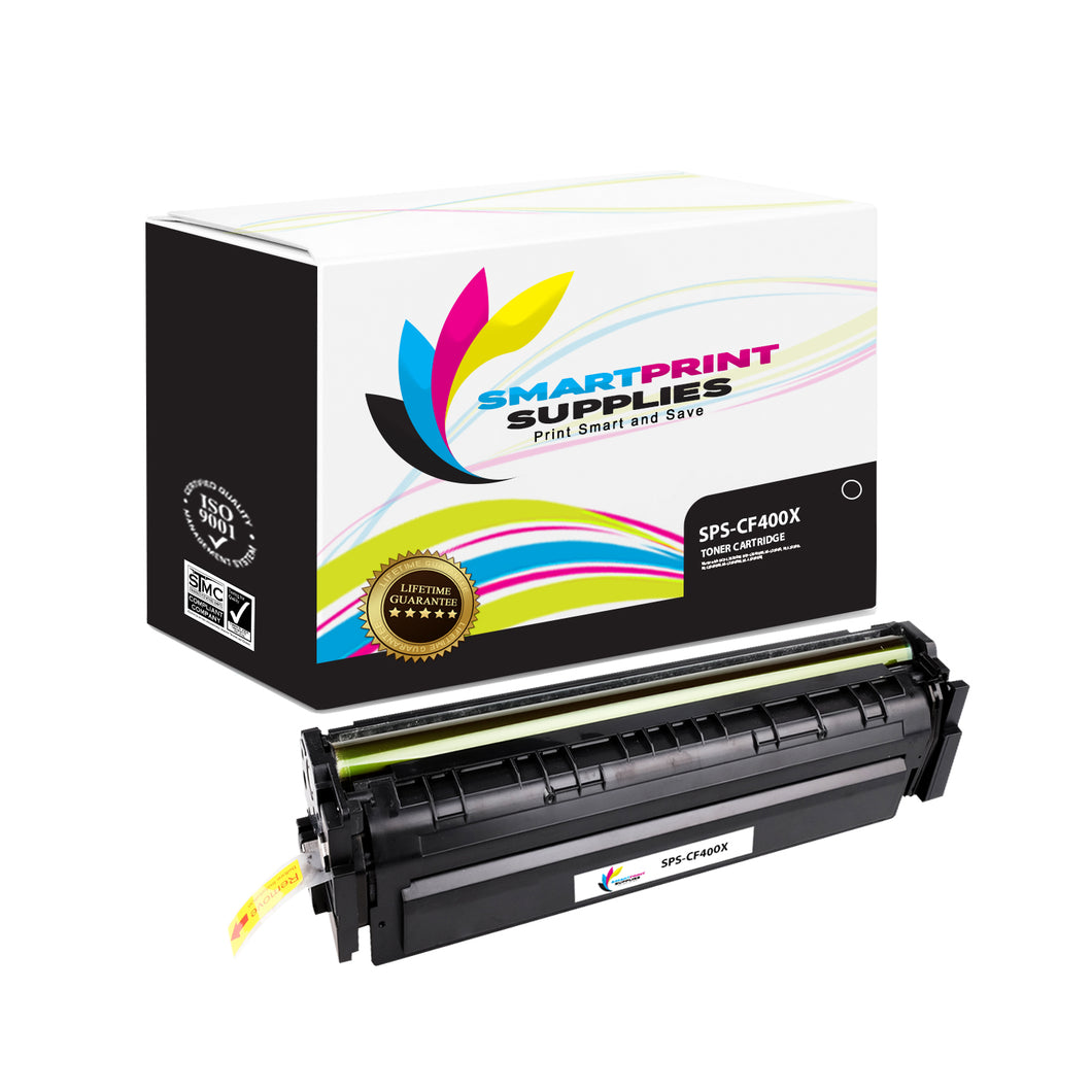 HP 201X CF400X Replacement Black High Yield Toner Cartridge by Smart Print Supplies