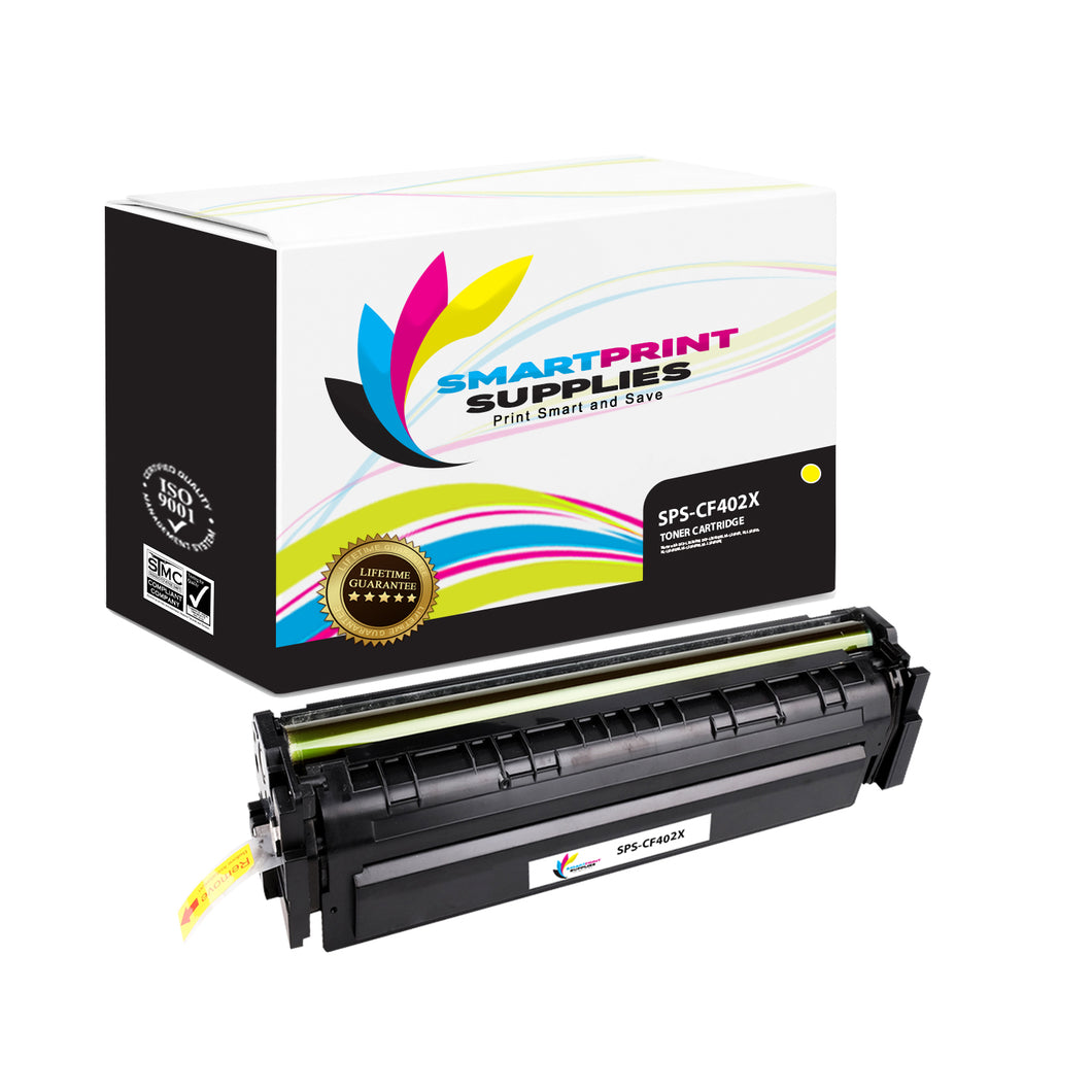 HP 201X CF402X Replacement Yellow High Yield Toner Cartridge by Smart Print Supplies