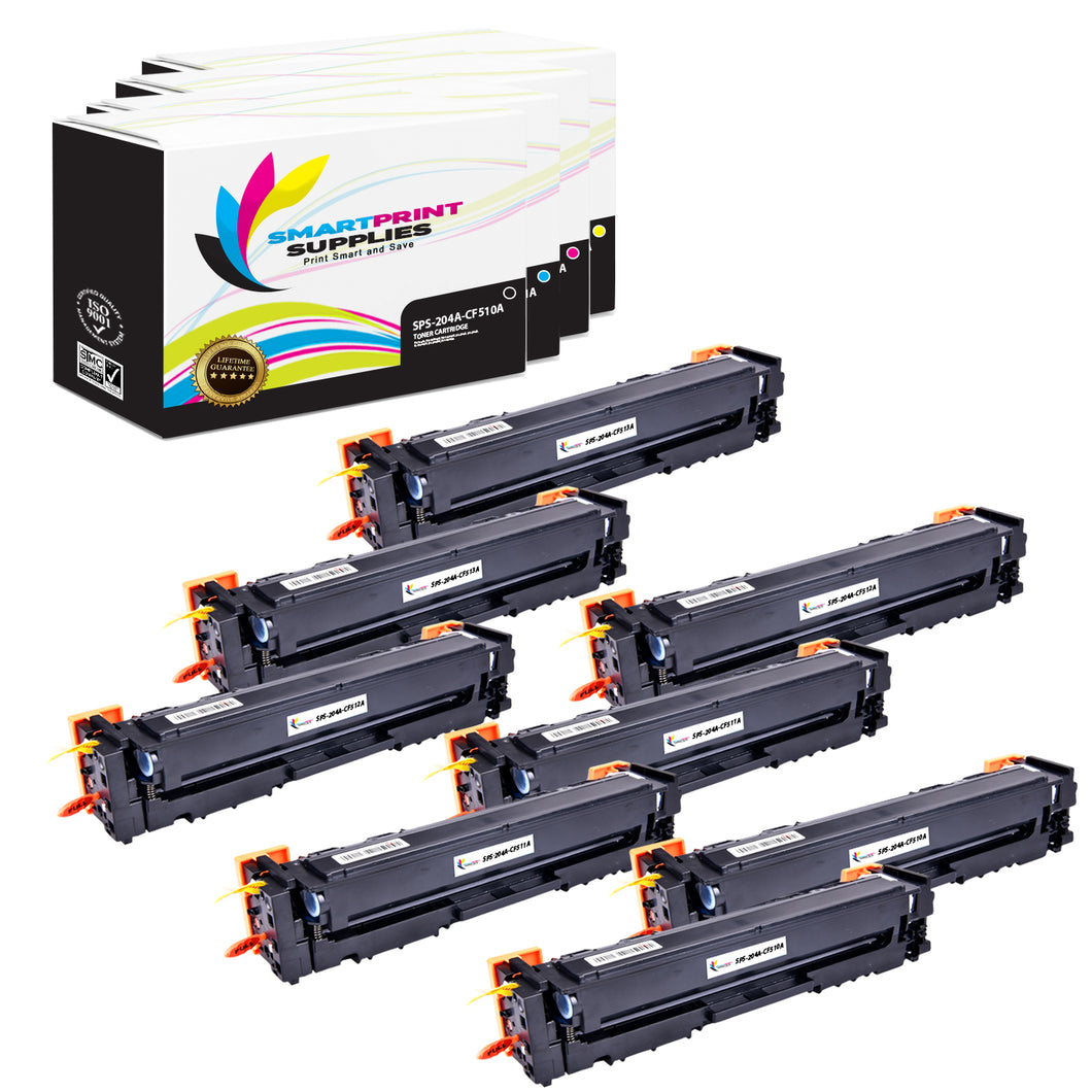 HP 204A Replacement 4 Colors Toner Cartridge by Smart Print Supplies /1,100 per black cartridge and 900 per color cartridge Pages