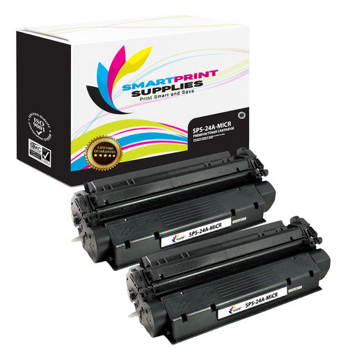 2 Pack HP 24A Q2624A Replacement Black MICR Toner Cartridge by Smart Print Supplies