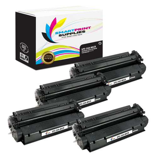 4 Pack HP 24A Q2624A Replacement Black MICR Toner Cartridge by Smart Print Supplies