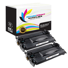 2 Pack HP 26A CF226A Premium Replacement Black Toner Cartridge by Smart Print Supplies