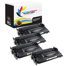 4 Pack HP 26A CF226A Premium Replacement Black Toner Cartridge by Smart Print Supplies