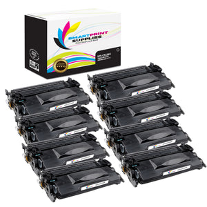 8 Pack HP 26A CF226A Replacement Black Toner Cartridge by Smart Print Supplies