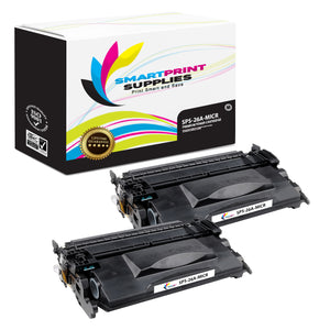 2 Pack HP 26A CF226A Replacement Black MICR Toner Cartridge by Smart Print Supplies