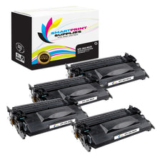 4 Pack HP 26A CF226A MICR Replacement Black Toner Cartridge by Smart Print Supplies /3100 Pages