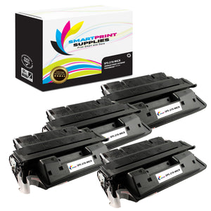 4 Pack HP 27X C4127X Replacement Black High Yield MICR Toner Cartridge by Smart Print Supplies