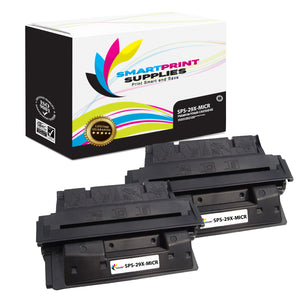 2 Pack HP 29X C4129X Replacement Black High Yield MICR Toner Cartridge by Smart Print Supplies