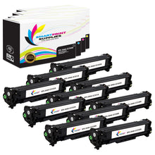 10 Pack HP 304A 4 Colors Toner Cartridge Replacement By Smart Print Supplies