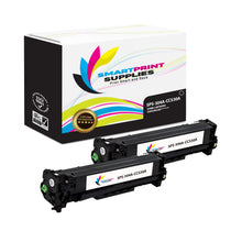 2 Pack HP 304A Black Toner Cartridge Replacement By Smart Print Supplies