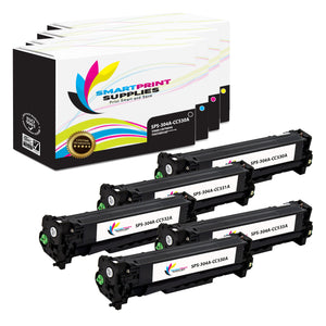 5 Pack HP 304A 4 Colors Toner Cartridge Replacement By Smart Print Supplies