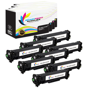8 Pack HP 304A 4 Colors Toner Cartridge Replacement By Smart Print Supplies