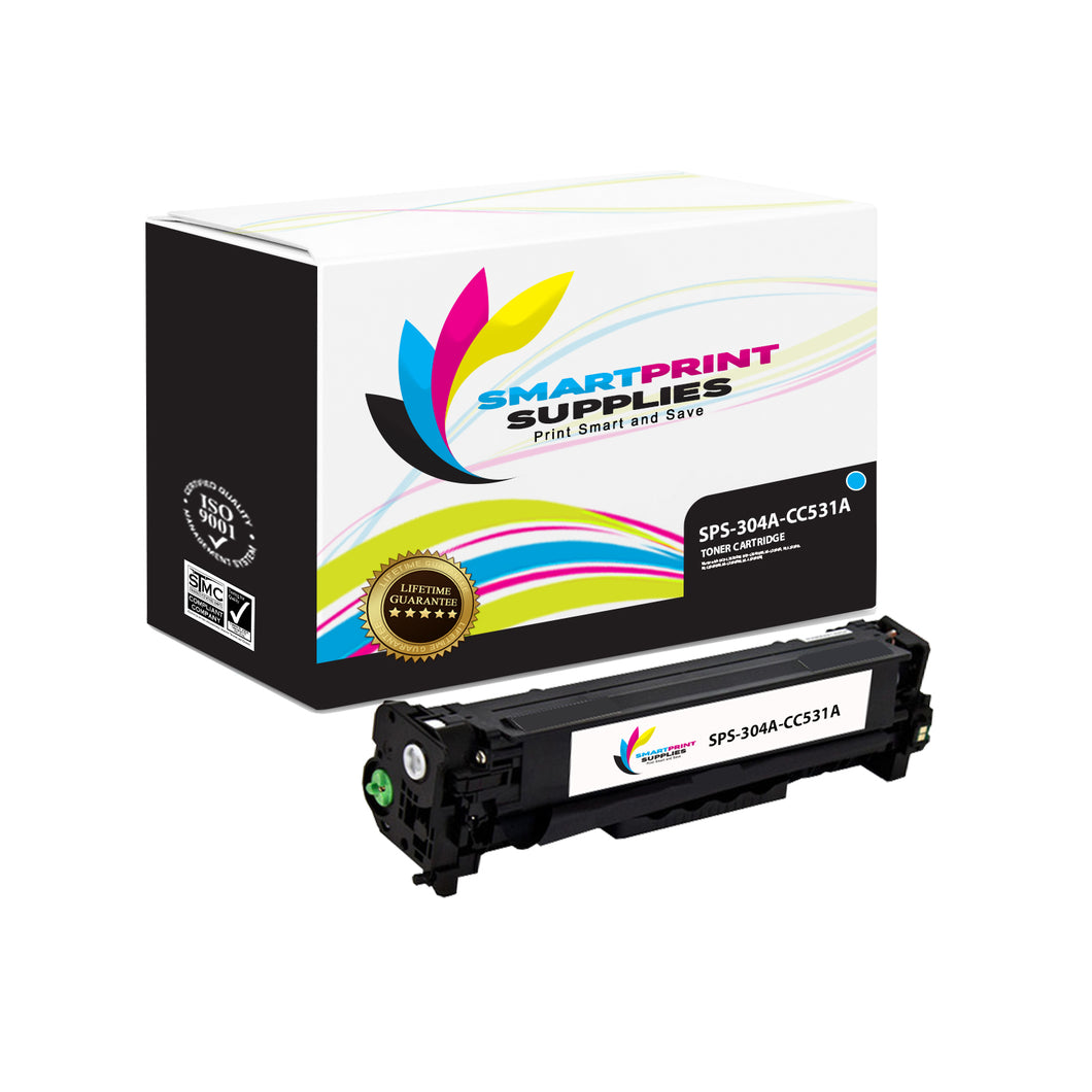 1 Pack HP 304A Cyan Toner Cartridge Replacement By Smart Print Supplies