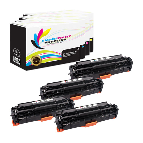 4 Pack HP 304A Premium Replacement 4 Colors Toner Cartridge by Smart Print Supplies