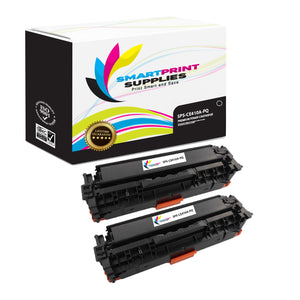 2 Pack HP 305A/305X CE410A Premium Replacement Black Toner Cartridge by Smart Print Supplies
