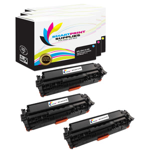 3 Pack HP 305A/305X Premium Replacement (CMY) Toner Cartridge by Smart Print Supplies