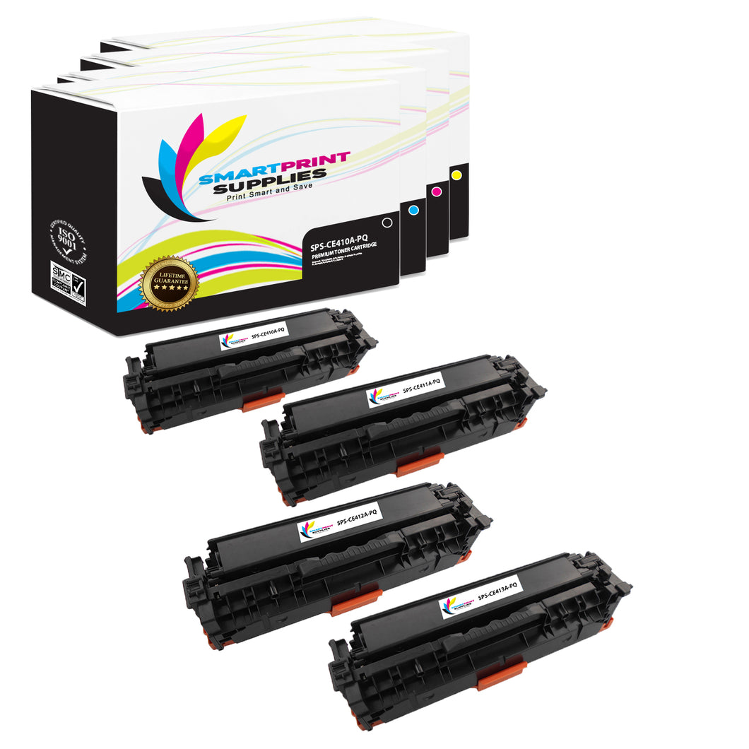 4 Pack HP 305A/305X Premium Replacement (CMYK) Toner Cartridge by Smart Print Supplies