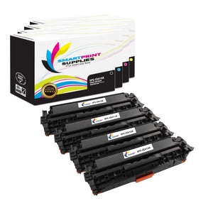 4 Pack HP 305A/305X Replacement (CMYK) Toner Cartridge by Smart Print Supplies