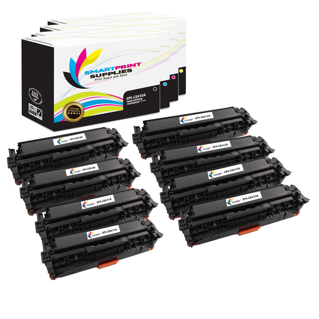 HP 305A Replacement 4 Colors Toner Cartridge by Smart Print Supplies /2,200 per black cartridge, and 2,600 per color cartridge Pages