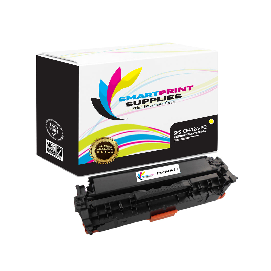 HP 305A/305X CE412A Premium Replacement Yellow Toner Cartridge by Smart Print Supplies