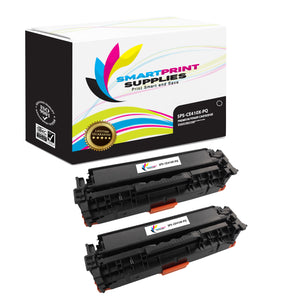 2 Pack HP 305A/305X CE410X Premium Replacement Black Toner Cartridge by Smart Print Supplies