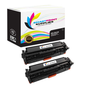 Smart Print Supplies CE410X 305X High Yield Replacement Black Toner Cartridge Two Pack