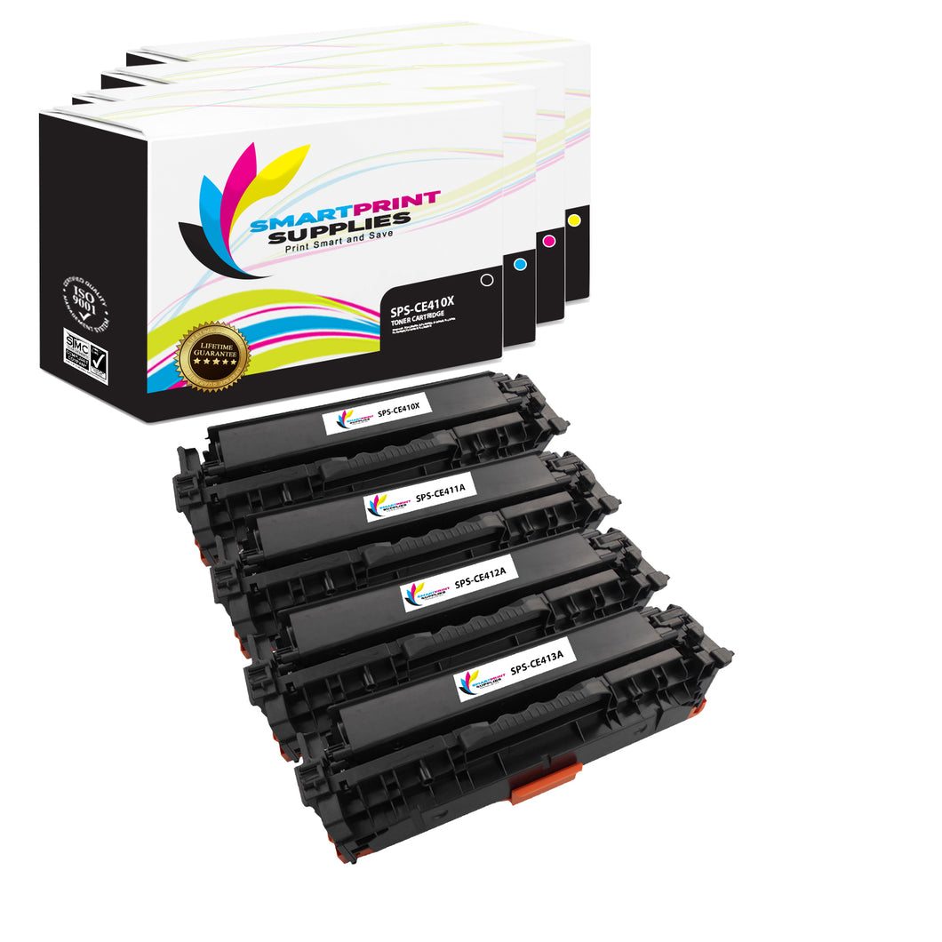 4 Pack HP 305X Replacement (CMYK) Toner Cartridge by Smart Print Supplies