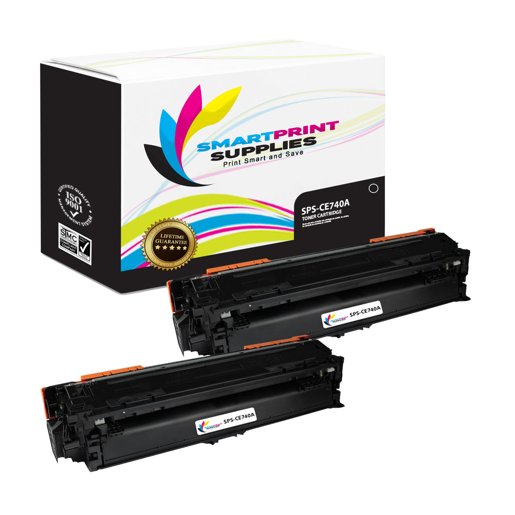 2 Pack HP 307A Replacement Black Toner Cartridge by Smart Print Supplies