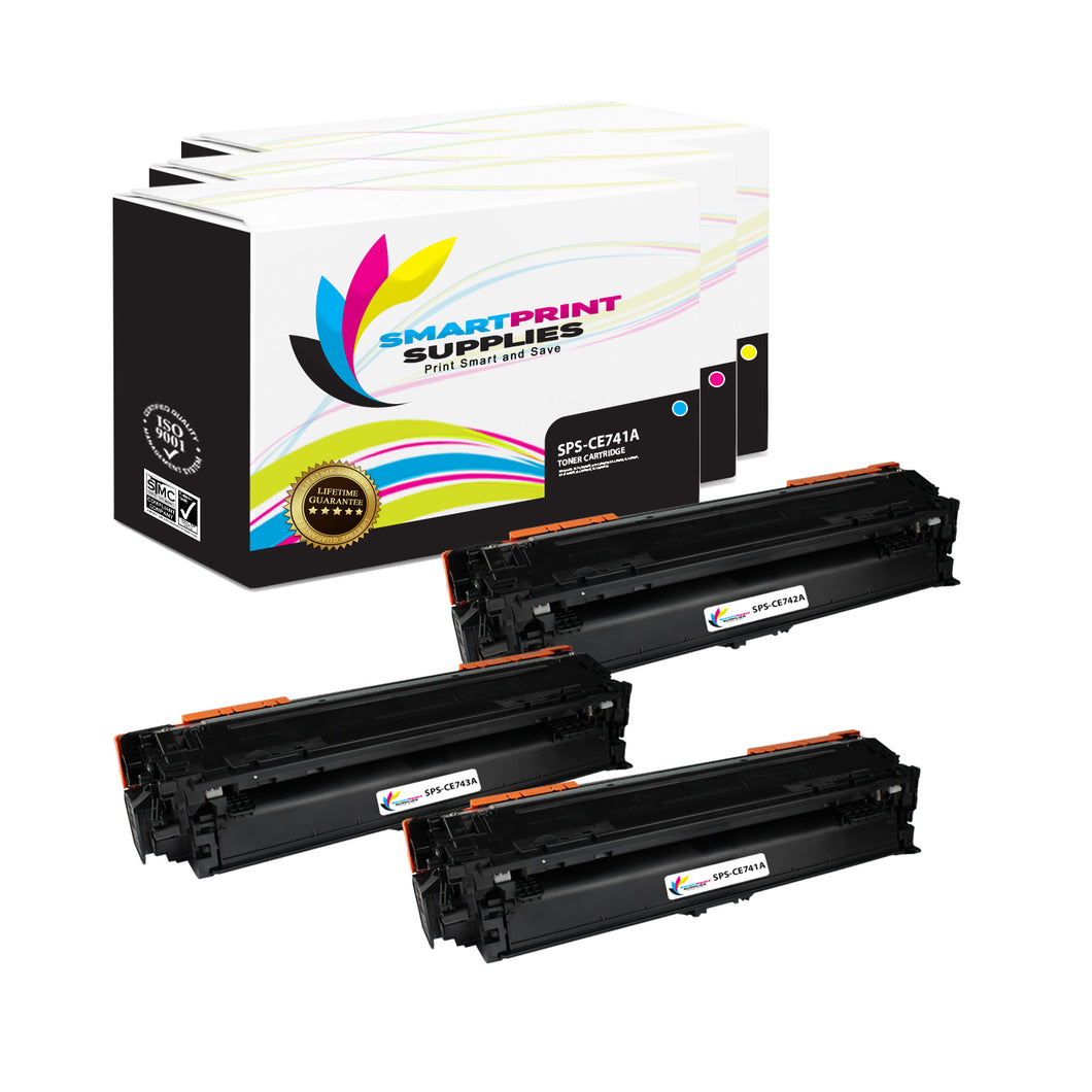 Smart Print Supplies 307A CE741A CE742A CE743A Replacement Color Toner Cartridge Three Pack (1C, 1M, 1Y)