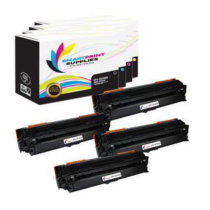 4 Pack HP 307A 4 Colors Toner Cartridge Replacement By Smart Print Supplies