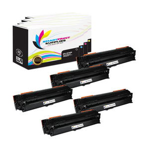5 Pack HP 307A Replacement Four Colors Toner Cartridge by Smart Print Supplies