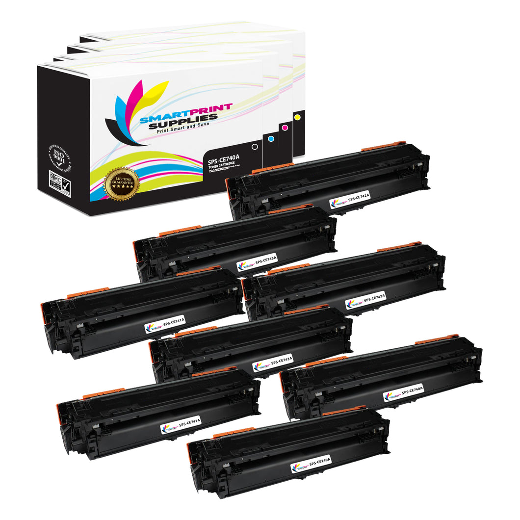 8 Pack HP 307A 4 Colors Toner Cartridge Replacement By Smart Print Supplies