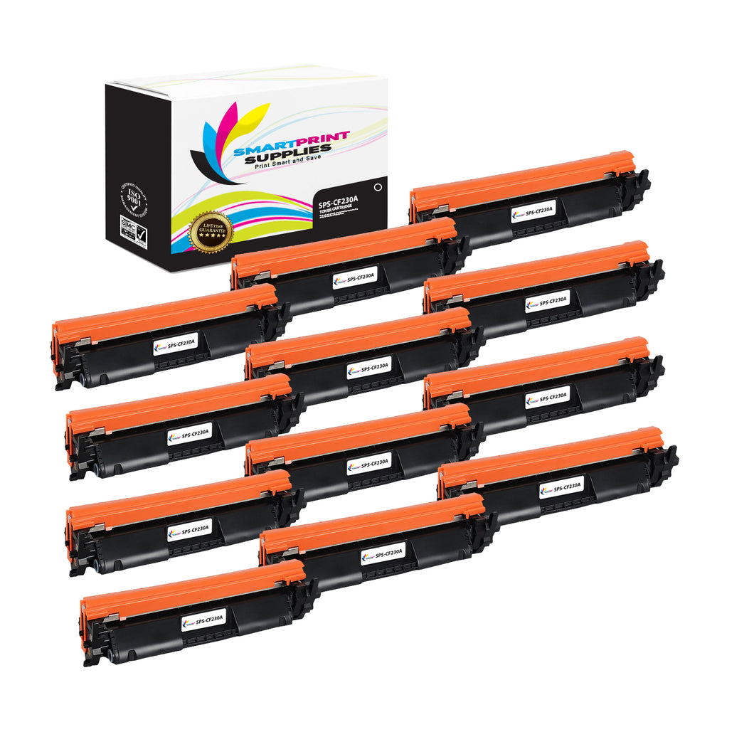 12 Pack HP 30A Black Toner Cartridge Replacement By Smart Print Supplies
