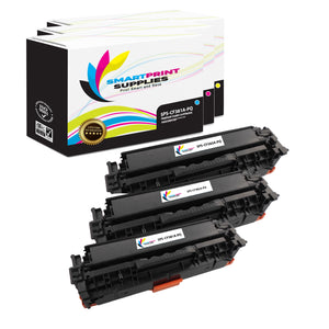 3 Pack HP 312A/312X Premium Replacement (CMY) Toner Cartridge by Smart Print Supplies
