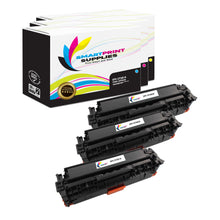 3 Pack HP 312A/312X Replacement (CMY) Toner Cartridge by Smart Print Supplies