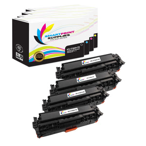4 Pack HP 312A/312X Premium Replacement (CMYK) Toner Cartridge by Smart Print Supplies