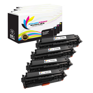 4 Pack HP 312A/312X 4 Colors Toner Cartridge Replacement By Smart Print Supplies